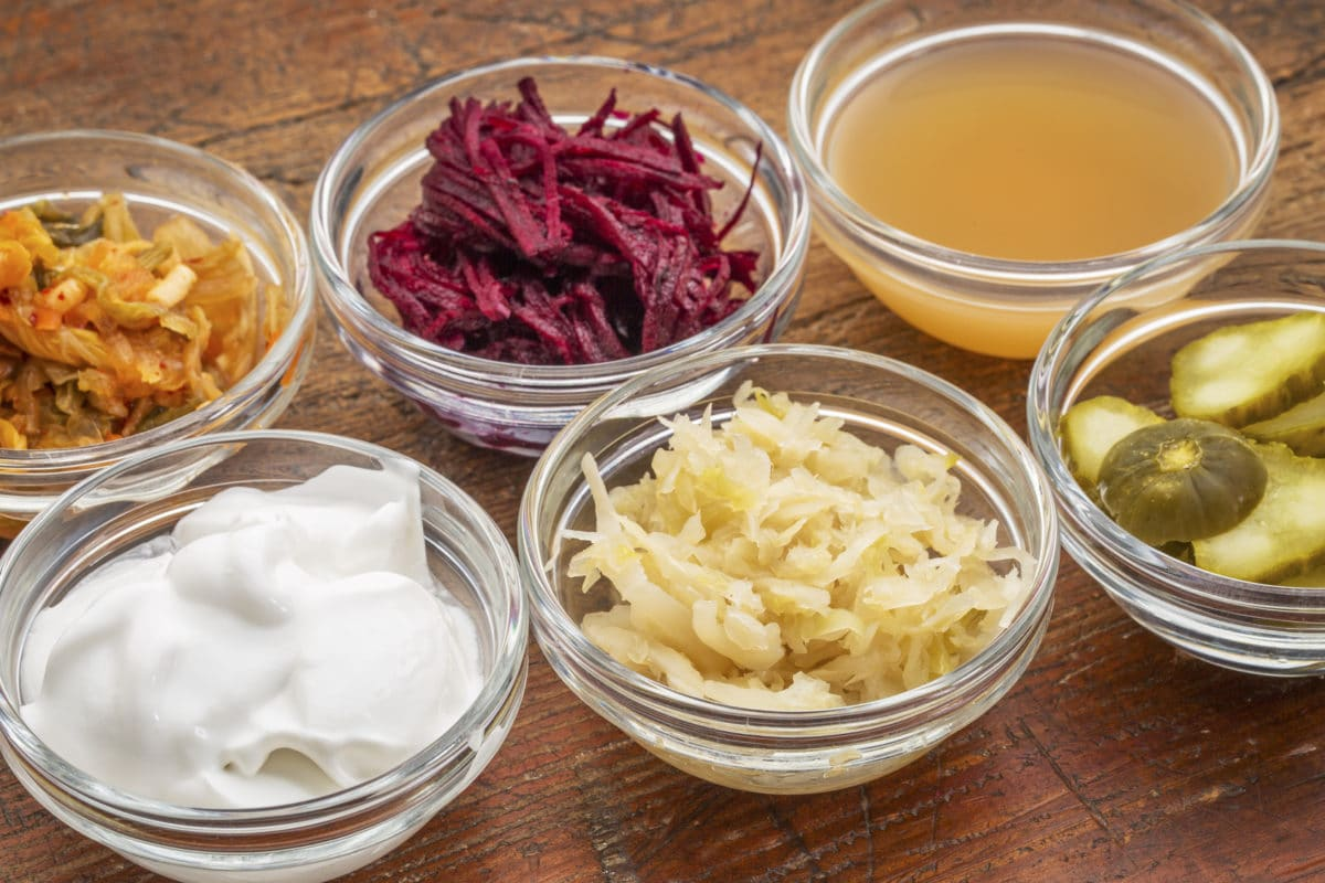 Fermented foods to add to your list of foods to eat: sauerkraut, yogurt, kefir, kimchi, natto, olives