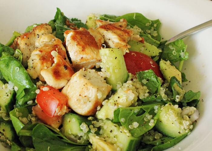 Quinoa chicken salad