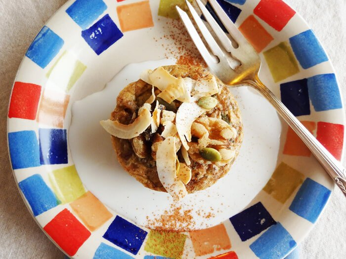Buckwheat groat breakfast muffin