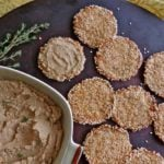Chicken liver pate with sesame rounds