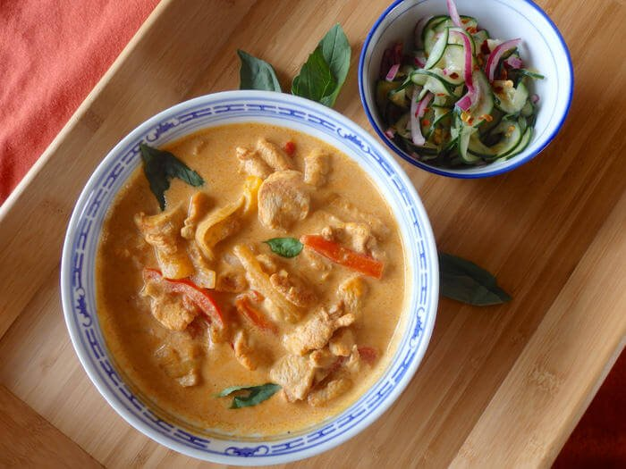Thai red curry chicken the candida diet for Best thai red curry