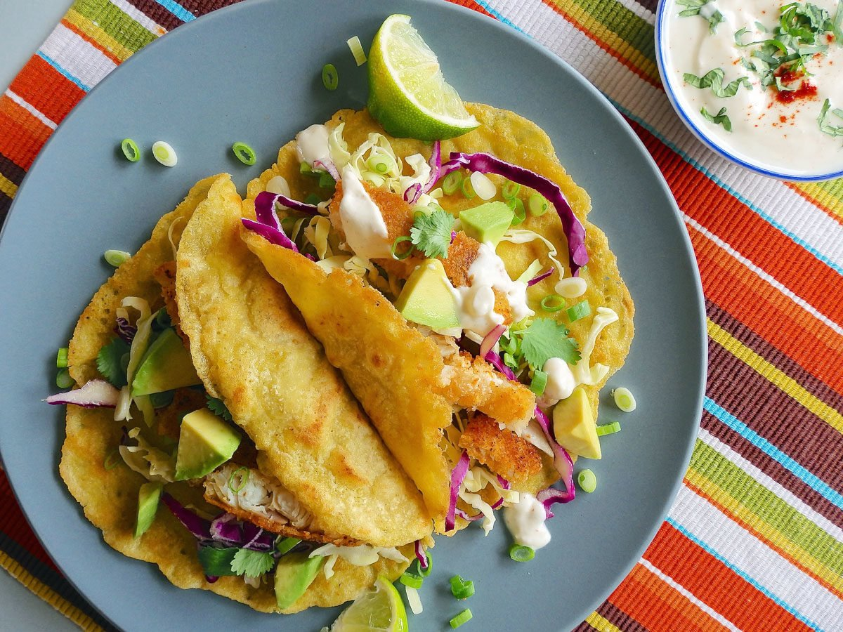 Gluten-free, no-sugar fish tacos
