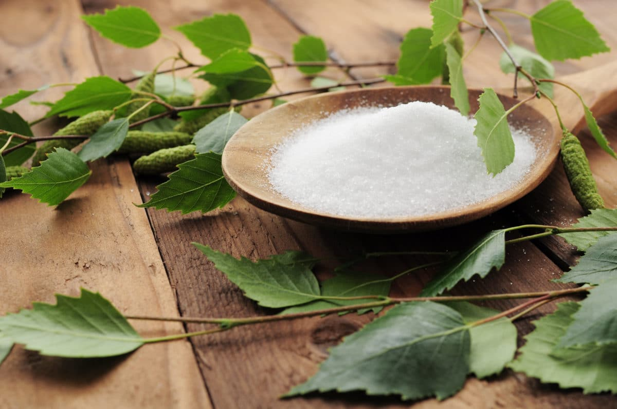 Natural, low-carb sweeteners: stevia, xylitol, monk fruit, erythritol