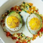 Avocado Baked Eggs on the Candida diet