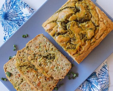 Savory Zucchini and Pesto Bread