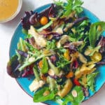 Artichoke salad with coconut vinaigrette