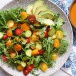 Arugula and Tomato Salad with Tomato Vinaigrette