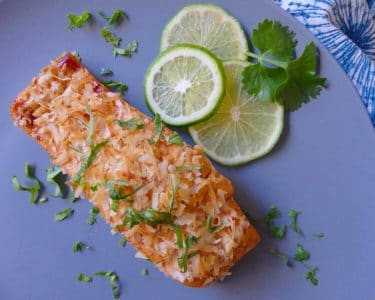 Toasted Coconut and Lime Salmon